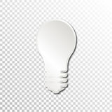 Empty white paper plate base for text. Simple bulb form card on transparent background Royalty Free Stock Photography