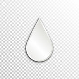 Empty white paper plate base for text. Simple drop form card on transparent background Stock Images