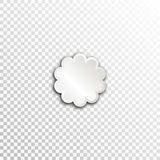 Empty white paper plate base for text. Simple flower form card on transparent background Royalty Free Stock Image