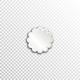 Empty white paper plate base for text. Simple flower form card on transparent background Stock Photos