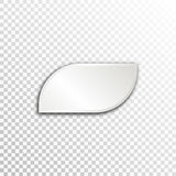 Empty white paper plate base for text. Simple form card on transparent background Stock Photos