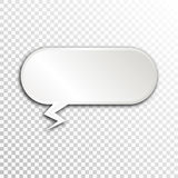 Empty white paper plate base for text. Simple form card on transparent background Royalty Free Stock Photography