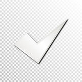 Empty white paper plate base for text. Simple form card on transparent background Royalty Free Stock Photos