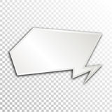 Empty white paper plate base for text. Simple form card on transparent background Stock Photo