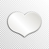 Empty white paper plate base for text. Simple heart form card on transparent background Royalty Free Stock Photography