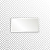 Empty white paper plate base for text. Simple rectangle form card on transparent background Stock Photography