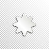 Empty white paper plate base for text. Simple star form card on transparent background Stock Image