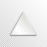 Empty white paper plate base for text. Simple triangle form card on transparent background Royalty Free Stock Photography