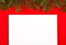 Empty white paper on red velvet Stock Images