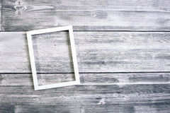 Empty white picture frame Royalty Free Stock Photo