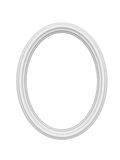 Empty white picture or photo art frame. 3d Royalty Free Stock Photos