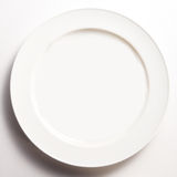 Empty white plate Royalty Free Stock Photo