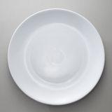 Empty white plate. From top view Stock Photography