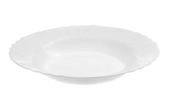 Empty white plate Royalty Free Stock Images