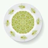 Empty white plate. Illustration on white background Royalty Free Stock Image