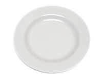 Empty white plate isolated stock photos