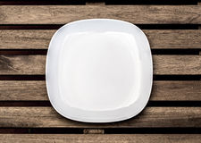 Empty white plate o Stock Photos