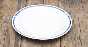 Empty white plate Stock Images