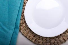 Empty White Plate Royalty Free Stock Photos