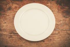 Empty white plate Stock Photos