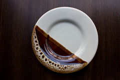 Empty white plate on Royalty Free Stock Images