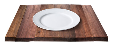 Empty white plate Stock Photography