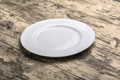 Empty white plate Royalty Free Stock Photography