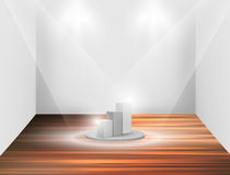 Empty white podium Stock Image