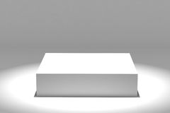 Empty white podium Royalty Free Stock Photo