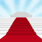 Empty white podium Royalty Free Stock Image