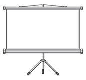 Projector screen Stock Photos