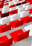 Empty white and red  stadium seats Stock Images