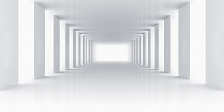 Empty white room vector illustration
