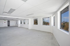 Empty white room Stock Images