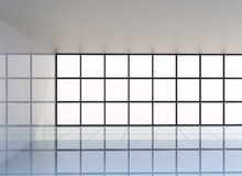 Empty white room. 3D Rendering Royalty Free Stock Photography