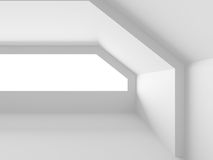 Empty White Room. Architecture Construction Modern Interior Back Stock Image