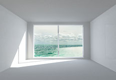 The empty white room Stock Images