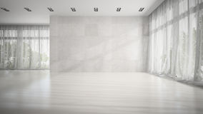 Empty white room 3D rendering Stock Images