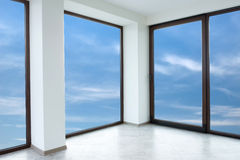 Empty white room (includes clipping path) Stock Photo