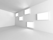 Empty White Room Interior Background. 3d Render Illustration Stock Image