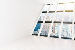 Empty white room Royalty Free Stock Photo