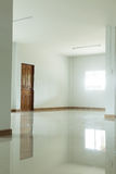 Empty white room interior in residential house Stock Photos