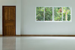 Empty white room interior in residential house building Royalty Free Stock Photography