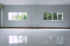 Empty white room interior in residential house building Royalty Free Stock Images