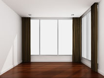 Empty white room in the morning Royalty Free Stock Photo