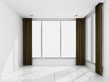 Empty white room in the morning Stock Images