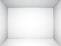 Empty White Room Royalty Free Stock Photos