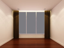 Empty white room at night Royalty Free Stock Photos