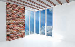 The empty white room Royalty Free Stock Photography