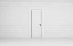 Empty white room with one door. Empty white room with one door 3d illustration  sc 1 st  Dreamstime.com & Empty White Room Closed Door Stock Illustrations u2013 746 Empty White ...